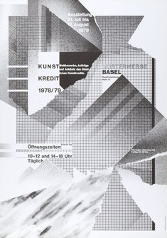 New Wave Typography: Swiss Punk: Wolfgang Weingart Poster Kunst Kredit 1979 Graphisches Design, Wave Design, Layout Design, Modern Design, Logo Design, New Wave, Design Graphique, Art Graphique, Typography Poster