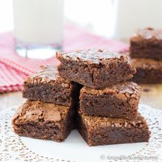 This Ultimate Brownie Recipe makes a rich, chewy brownie with a yummy crackled top.