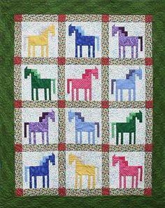 Horse quilt from the site of Marjorie Rhine Quilt Design NW