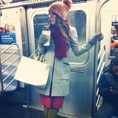 My wife looks so good going downtown on the N train: