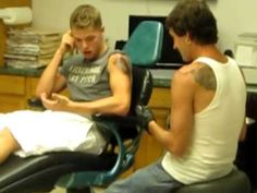 Wimp gets a tattoo. What a douche!