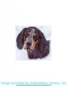 Stickmotiv Stickbild Aufnäher Stickerei Emblem Bluetick-Coonhound Blütick-Coonhound / Stickerei Bluetick Coonhound (I1171)