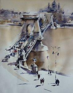"Trevor Lingard - ""Chain Bridge"" Budapest"
