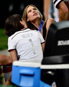 Sarah Brandner (Bastian Schweinsteiger's girl) and Kathrin Gilch (Manuel Neuer's girl)