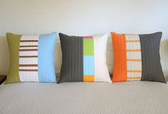 Modern Throw Pillows Triptychs by bperrino on Etsy Idea for Max and Amanda's apt.