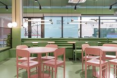Valencia-based creative studio Masquespacio has completed an open-plan colour-blocked interior with a community feeling for the Resa San Mamés student accommodation in Spain. Bilbao, Colour Blocking Interior, Color Blocking, San Mamés, Student Dormitory, Student House, Study Rooms, Design Strategy, Outdoor Furniture Sets