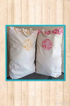 Personal Monogrammed Laundry Bag by SimplySistersGreek1 on Etsy
