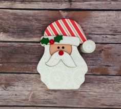 """Santa Wood Home Decor Kit - December Interchangeable """"O"""" by ScrapHappyPagesStore on Etsy"""