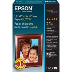 Ultra-Premium Glossy Photo Paper, 79 Lbs., 4 X 6, 60 Sheets/pack