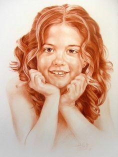 Un dibujo realizado con una técnica seca llamada  Sanguina por JESÙS R. TORTOSA SARRIÒ, se puede apreciar la calidad de esta obra.