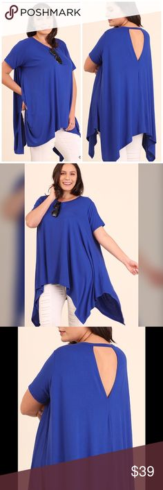 💖PLUS💖Trapeze Tunic JUST IN!! Cobalt Blue trapeze tunic Tops Tunics