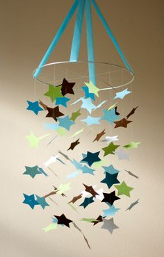 Baby Boy STAR Mobile KIT-DIY-Great Craft Project