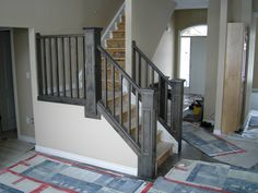 Stair Banisters and Railings | will be removed and replaced with our prefinished stairs and railings ...