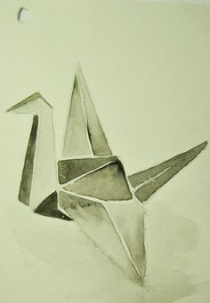 Origami #1 Watercolor on paper