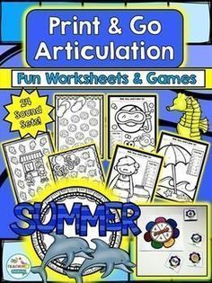 Low prep articulation activities for Summer are a must have!