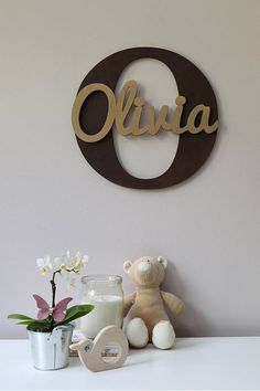 Wooden Letters, Baby Nursery Wall Hanging Letters in Script Font, Baby Name Sign, Kids Room Decor, Wood Letters - New Site Hanging Letters, Wood Letters, Cnc Projects, Woodworking Projects, Projects To Try, Baby Name Signs, Nursery Design, Wooden Signs, Diy And Crafts