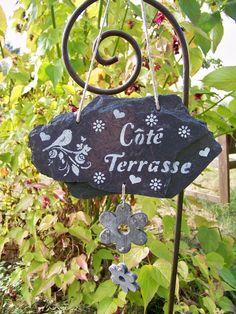 "Décoration de jardin- ardoise naturelle ""Coté Jardin"""
