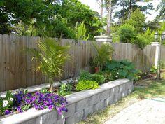 Raised garden along fence
