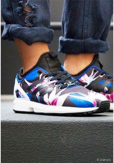 Adidas floral ZX Flux