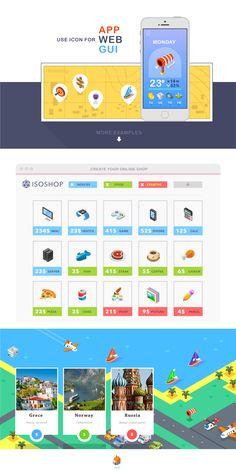 Isometric, 99 icon pack on Behance