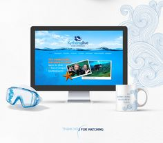 """Check out my @Behance project: """"Kythera Dive Center"""" https://www.behance.net/gallery/54003073/Kythera-Dive-Center"""