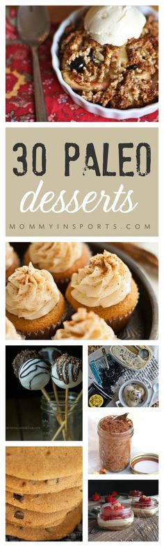 Who says the holidays can't be healthy? Try one of these AMAZING Paleo Desserts they are BIG in flavor yet low in sugar! Really great paleo dessert recipes!