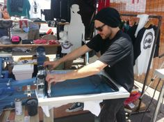 Off Contact Screen Printing Blog Post.  How to screen print off contact and why it's essential.