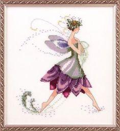 Water Lily Spring Garden Pixie - Cross Stitch Pattern  by Nora Corbett