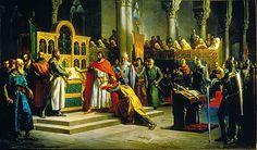 coronación en  León en enero de 1066, Alfonso tuvo que enfrentarse con los deseos expansionistas de su hermano Sancho quien, se consideraba el único heredero legítimo de todos los reinos  Los conflictos se inician cuando en 1067 fallece la reina Sancha, suceso que abrirá un periodo de siete años de guerra entre los tres hermanose 19 de julio de 1068 cuando Alfonso y Sancho se enfrentan en Llantada, en un juicio de Dios  pactan que el que resultase victorioso obtendría el reino del derrotado.