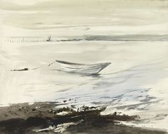 Andrew Wyeth, River Weir 1951, watercolor on paper