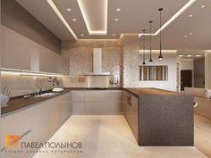 Дизайн интерьера кухни - yeah, whatever he/she said. digging the lighting Luxury Kitchen Design, Kitchen Room Design, Kitchen Cabinet Design, Luxury Kitchens, Kitchen Layout, Home Decor Kitchen, Interior Design Kitchen, Home Kitchens, Kitchen Ideas