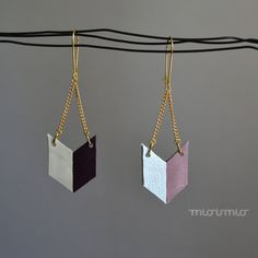 Eco friendly earrings.Pastel colors earrings.Geometric earrings.Long earrings.Chevron earrings.Mint purple earrings.Pastel fringe earrings