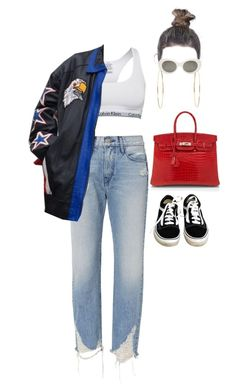 """At the boat show in the Hamptons with family"" by nytown ❤ liked on Polyvore featuring 3x1, Calvin Klein, Vans, Jennifer Meyer Jewelry, Acne Studios and Hermès"