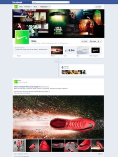 Nike - Amazing Facebook Timeline Brand Pages