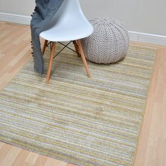 Focus Stripes Rugs Fc05 In Ochre80x150cm 5 0 X2 6