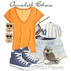 Annabeth Chase by polyspolyvore on Polyvore.