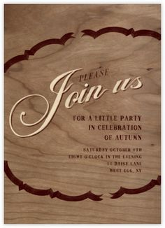 Please Join - Cream Brown - Paperless Post