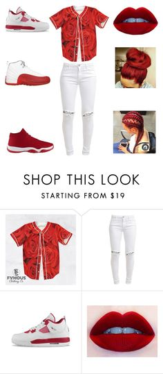 """""""red roses"""" by aleisharodriguez ❤ liked on Polyvore featuring FiveUnits and NIKE"""