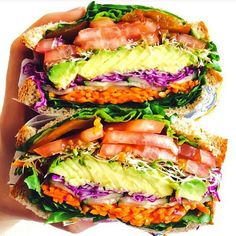 Wait what  this is a veg. sandwich!? Tell me more!! If you have a chance.. Check out @whole_food_nutritionista page for a variety of healthy and extremely scrumptious meals !!