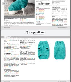 Knitted Dog Sweater Pattern, Knit Dog Sweater, Dog Pattern, Sweater Patterns, Crotchet Patterns, Knitting Patterns, Knitting Ideas, Knitting Projects, Sphynx Cat Clothes