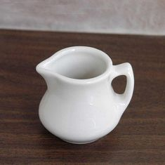 Jackson China Creamer, Farmhouse Table Decor, White Creamer, Vintage 1960s Restaurant Ware, Ceramic Pottery, Kitchen, Dining, Small Pitcher by NutmegCottage on Etsy