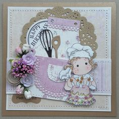 magnolia stamps | Magnolia card with dies from marianne design. Magnolia stamp piping ...
