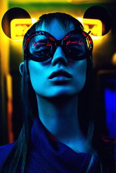 Neon, a striking series captured and conceptualized by talented photographer Edina Csoboth with styling from Peter Frak. Star of the session is the gorgeous Berta at Attractive Model Agency, hair styling courtesy of Viktoria S. Toth (Hob) and makeup by makeup artist Eszter Galambos (L'école).