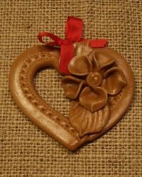 srdce Salt Dough, Cold Porcelain, Diy And Crafts, Clay, Christmas Ornaments, Creative, Art, Hearts, Characters
