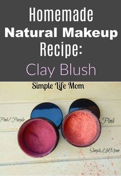 diy makeup This homemade natural makeup recipe for a natural mineral clay blush recipe is perfect for those looking for organic, healthy alternatives. An easy DIY. Homemade Beauty, Diy Beauty, Beauty Hacks, Homemade Blush, Beauty Tips, Homemade Clay, Homemade Soaps, Best Natural Makeup, Natural Make Up