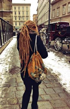 This is me someday, when I quit adult life and let my dreads grow freely and hop planes to Europe, and wander the streets of London with all my possessions in a backpack ... :: #dreadstop