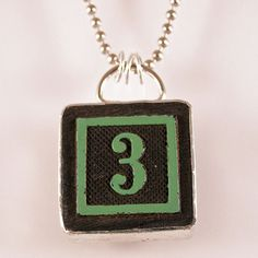 Number 3 Pendant by XOHandworks $20