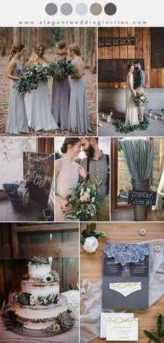 31 Styling Ideas For A Rustic Farm Wedding shades of muted grey and brown eartht tone fall and winter wedding colo palette Rustic Wedding Colors, Winter Wedding Colors, November Wedding Colors, Wedding Colours, Winter Weddings, Rustic Theme, Autumn Wedding, Colour Themes For Weddings, Spring Wedding