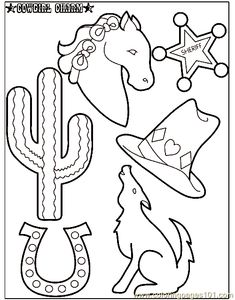 cowboy texas theme coloring pages | free printable coloring page Cowboy Coloring Page 001 (2) (Cartoons ...