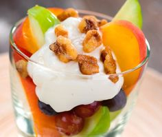 Fresh Fruit and Greek Yogurt Parfait #HealthyRecipe #LYFEKitchen #EATGood #FEELGood #Citrus #GreekYogurt #Parfait